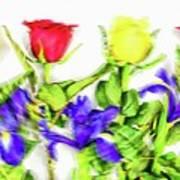 Flower Frame Border Poster
