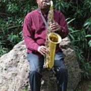 Muslim Jazz Musician. Poster
