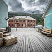 Port Of Skagway Alaska Near White Pass British Columbia Canada Poster