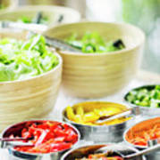 Salad Bar Buffet Fresh Mixed Vegetables Display Poster