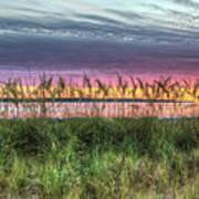 Yorktown Beach At Sunrise Poster