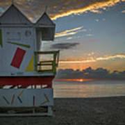 8041- Miami Beach Sunrise Poster