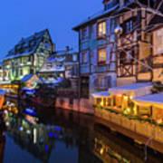 Colmar,petite Venice, Alsace, France, Poster