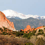 Garden Of The Gods And Pikes Peak Poster