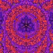Indian Fabric Pattern Poster