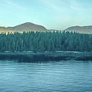 Inside Passage Mountain Views Around Ketchikan Alaska Poster