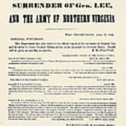Lees Surrender, 1865 Poster