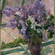 Lilacs In A Window Poster