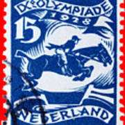 Old Dutch Postage Stamp Poster