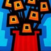 9 Orange Poppies Poster