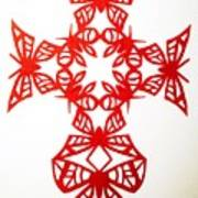 Red Butterfly-cross Poster