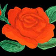 Red Rose, Painting Poster