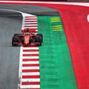 Sebastian Vettel Ferrari  Poster