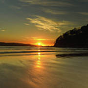 Sunrise Seascape From The Beach Poster