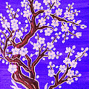 White Tree In Blossom, Painting Poster