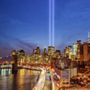 911 Tribute In Light In Nyc II Poster