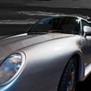 959 Porsche Poster by Paul Barkevich