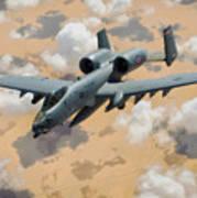 A-10 Thunderbolt Warthog Poster