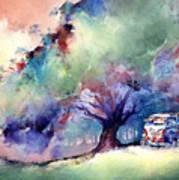 A 23 Window Vw Bus At Rest Poster by Michael David Sorensen