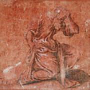 A Bearded Saint Kneeling Poster