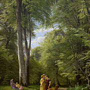 A Beech Wood In May Near Iselingen Manor Poster