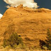 A Big Mountainous Rock On The Gemini Trail Moab Utah  Poster