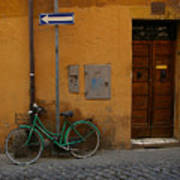 A Bike In Rome Poster