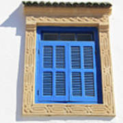 A Blue Window In Morocco Poster