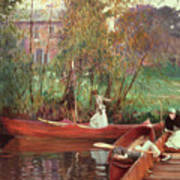 A Boating Party  Poster by John Singer Sargent
