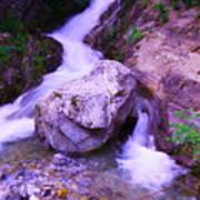 A Boulder Splitting The Rocks Poster