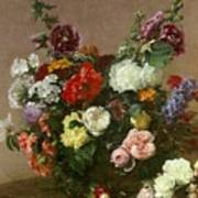 A Bouquet Of Mixed Flowers Poster