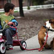 A Boy And His Bulldog Poster