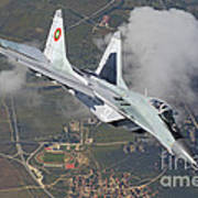 A Bulgarian Air Force Mig-29 In Flight Poster