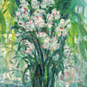 A Bunch Of Orchid Paintings Poster