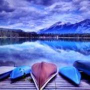A Calm Afternoon At Lake Edith Poster