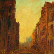 A Canal In Venice Poster