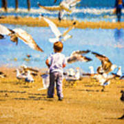 A Child At The Beach Isle Of Palms Sc Poster