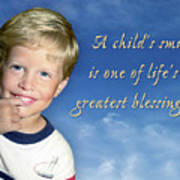 A Child's Smile Poster
