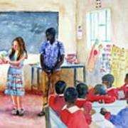 A Classroom In Africa Poster