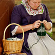 A Colonial Lady Knits Poster