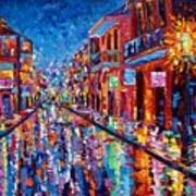 A Cool Night On Bourbon Street Poster