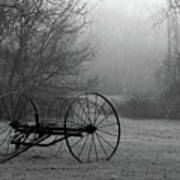 A Country Scene In Black And White Poster
