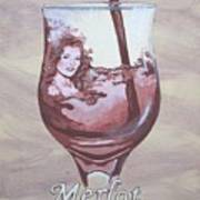 A Day Without Wine - Merlot Poster