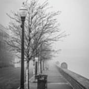 A Foggy Walkway Poster