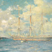 A French Barque In Falmouth Bay Poster