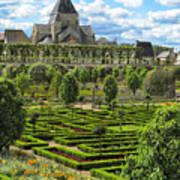 A Garden View At Chateau De Villandry Poster