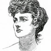 A Gibson Girl By Charles Dana Gibson Poster