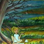 A Girl Near The Pond Poster
