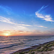 A Glorious Sunset At North Ponto, Carlsbad State Beach Poster