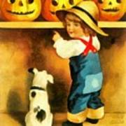 A Happy Halloween Puppy Poster